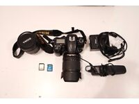 Nikon D7000 camera bundle with 2 lenses and accessories
