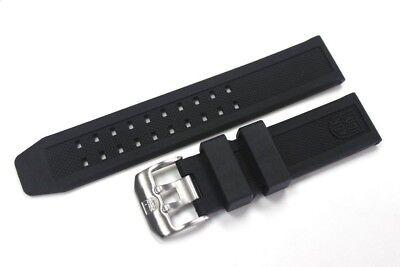 Luminox 23mm FP.L.ES Rubber Watch Band Strap Colormark NAVY SEAL 3050/3950/8800
