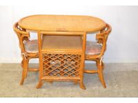 Cane Table and 2 Chairs GT 785