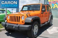 2012 JEEP WRANGLER UNLIMITED 4 DR SPORT AC, 2 TOIT, GROUPE ELECT