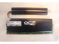 DESKTOP COMPUTER RAM, 1GB, OCZ REAPER, HPC (HEAT PIPE CONDUIT), 240 PIN DDR2 SDRAM 1066Hz (PC2 8500)