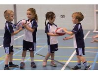 Rugbytots classes for 2-5 year olds at Impulse Leisure, Southwick on Sunday mornings
