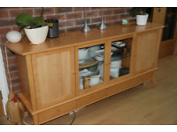Beech sideboard with four doors and four drawers