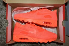 Mens NIKE AIR MAX 90 ULTRA MOIRE BRIGHT CRIMSON TRAINERS SIZE UK 10 RARE SNEAKER
