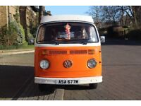 Volkswagen VW T2 BAY 1974 RHD POP TOP WESTFALIA CAMPER FOR SALE