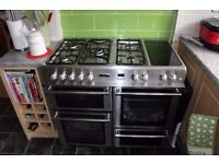 Leisure Cuisine master Dual Fuel Range Cooker complete with Extractor Fan Sainless Steel
