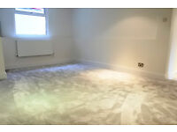 stunning newly refurbished two double bedroom apartment with communal garden and own entrance!