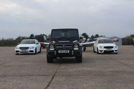 SPM Hire Mercedes C63 / E63 / G63 - G WAGON AMG / Luxury Vehicle Hire / Wedding Car Hire London