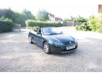 MG TF Convertible in British Racing Green
