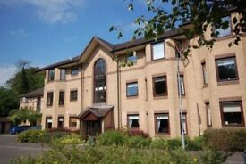 2 bedroom furnished flat to rent in Riverside Gardens, Busby, Clarkston. Available immediately.