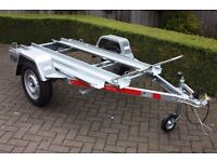 NEW 1 or 2 Motorcycle Motorbike Trailer TEMA Moto 2 - Two Channel Bike Trailer 750kg