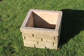 Square Stone Pot.