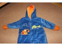 Blue and orange pramsuit. 6-9 mths. Excellent condition