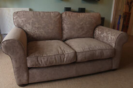 Elegant two seater sofa, immaculate condition, non smokers, no pets