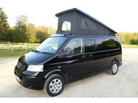 VW T5 T30 2.5 LWB Camper With Brand New Conversion & Elevating Roof. Low Miles. Absolutely Superb