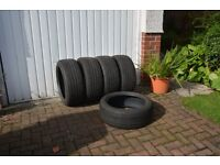 Four winter tyres and one summer. 225/45/R18