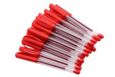 Wholesale Lot Of 50 - Reynolds Jiffy Gel Pen 0.5 Mm Japanese Waterproof Red Ink