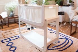 SnuzPod 2 Bedside Crib 3 in 1 Eco-White (SnuzPod2)