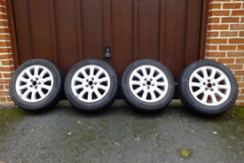 Jaguar X-Type winter tyres and alloys