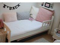 John Lewis Boris Todler Bed, White