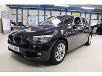 BMW 116d SE [NAV / £20 TAX] (jet black) 2014