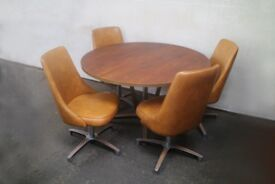1950/60's American Chromcraft Inc Sculpta dining set