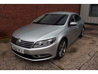 14 VW CC 2.0 TDI 140 GT 4DR COUPE ++ GREAT SPEC inc SAT NAV, LEATHER & XENONS ++