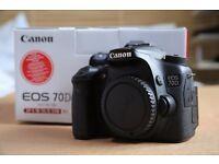 Canon 70D DSLR Camera Good Condition - Great Camera - No Lens - Boxed