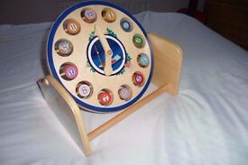 """In the Night Garden - Large, Wooden """"Tell the Time"""" Teaching Aid / Clock"""