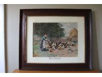 Framed print of a rural scene