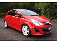 2012 Red Vauxhall Corsa 1.2 i 16v Limited Edition 3dr (a/c) £4495