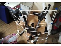 White clothes airer