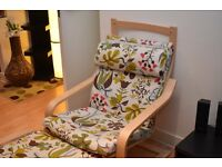 IKEA ARM CHAIR POÄNG with matching Footstool