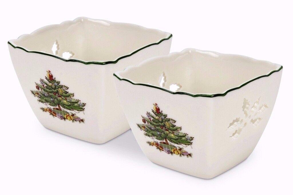 "Spode ""Christmas Tree"" Tealight Votives in original box"