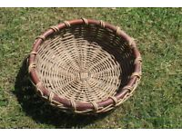 1 Large Wicker basket with a small round wicker basket included