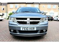 DODGE JOURNEY 2.0CRD RT AUTOMATIC 5 DOOR FSH HPI CLEAR 2 KEYS DVD SATNAV EXCELLENT CONDITION