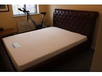 Seld Bed for sale. As showroom bought including memory foam mattress.