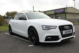 2016 WHITE AUDI A5 SPORTBACK 1.8 TFSI 177 BLACK EDITION PLUS MANUAL