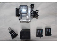 GoPro spares (batteries/charger/case)
