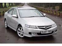 2007 HONDA ACCORD EXECUTIVE 2.2 I-CTDI*FACE LIFT*3 MONTHS WARRANTY*SAT NAV*CRUISE*LEATHER*BLUETOOTH*