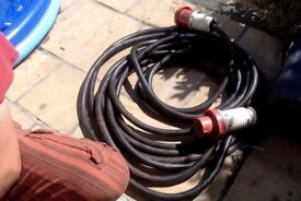 20m 400v 3 phase 5 pin 32a extension lead