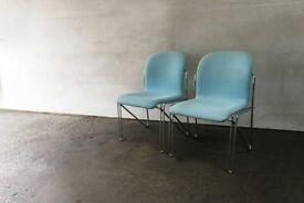 Pair of Danish mid century modern 1960's Labofa office chairs