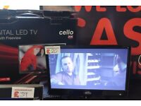 Cello flat screen TV 16 inch