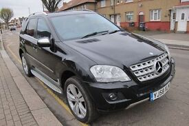 2008/58 MERCEDES-BENZ M CLASS ML320 3.0 CDI SPORT TIP AUTO FACE LEFT MODEL