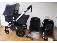 Bugaboo Cameleon Cam 3 pram travel system 3 in 1 - Navy Blue CAN POST
