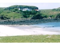 SHORT TERM LET - Isle of Muck cottage - available monthly Oct-Mar. Ideal for work or relaxation.