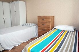 J -TWIN ROOM -FINCHLEY ROAD ZONE 2 - Swiss Cottage Station - All bills included