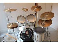Premier XPK White Drum Kit + Zildgian Cymbals