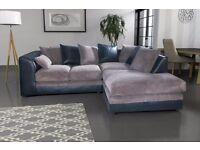 Fabulous BRAND NEW brown & beige corner sofa. foam filled cushions. delivery available