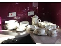 Marks & Spencer Autumn Leave Coffee & Dinner Set All In Perfect Condition.